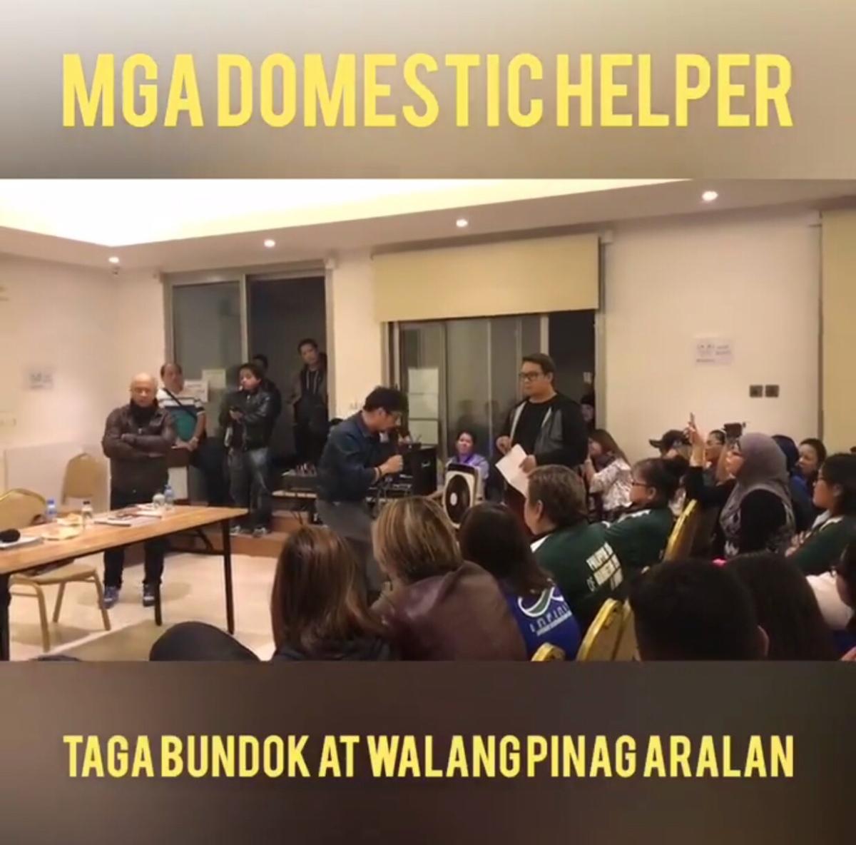 """""""Tagabundok at Walang Pinag-aralan ang mga Domestic Helper"""" -Recruitment Agency"""