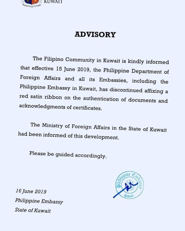 IMPORTANT ANNOUNCEMENT to all Filipinos in Kuwait! – The OFW